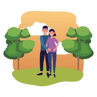 Pregnant couple avatar