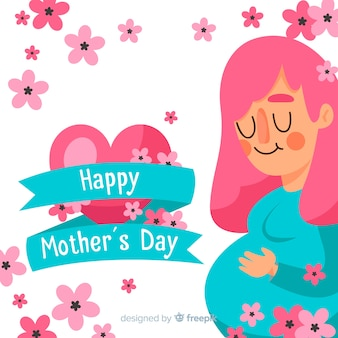 Pregnant girl mother's day background