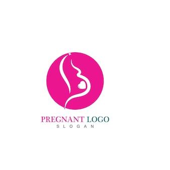妊娠中のロゴのテンプレート
