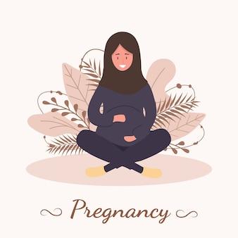 妊娠中の女性のイラスト