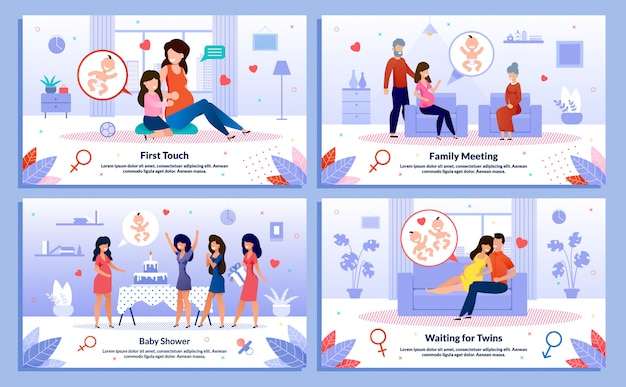 Pregnant woman relations, support vector posters