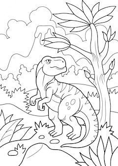 先史時代の恐竜の塗り絵