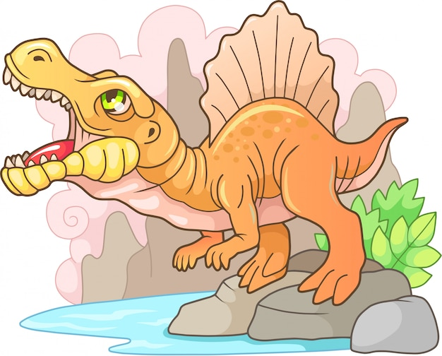Prehistoric dinosaur spinosaurus