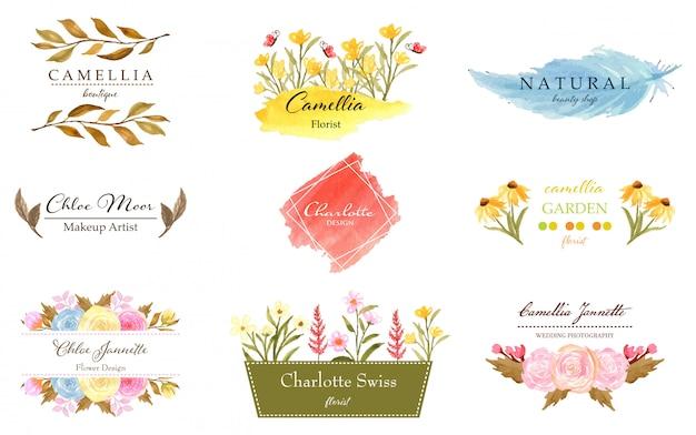 Premade floral logo collection
