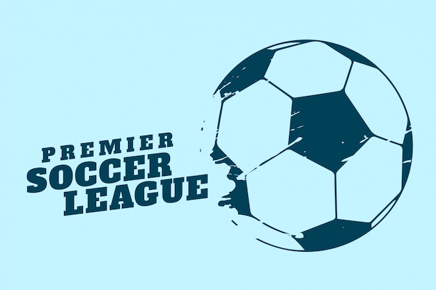 Premier soccer or football tournament background