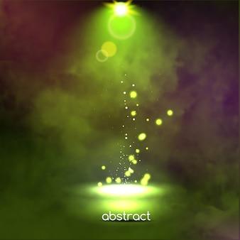 Premiere green show background sparkles