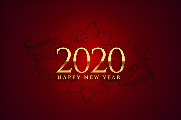 Premium 2020 golden happy new year