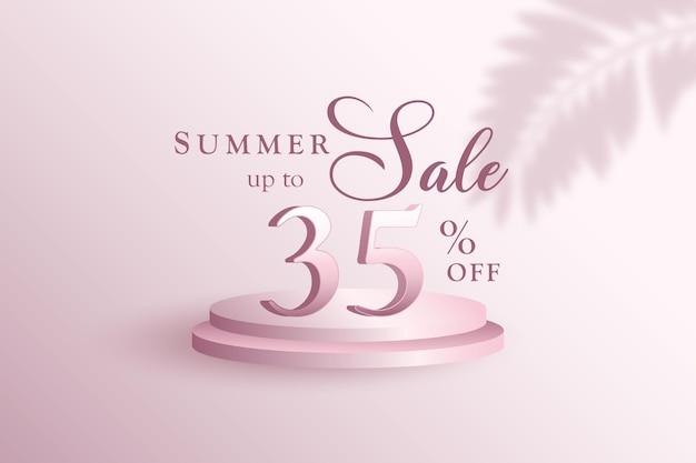 35 % 프리미엄 3d 여름 판매 배너 할인