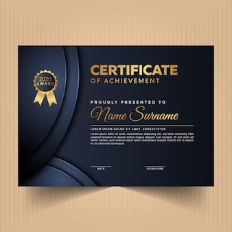 Premium abstract certificate design template