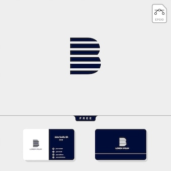 Premium abstract initial b, logo template vector illustration business card design include