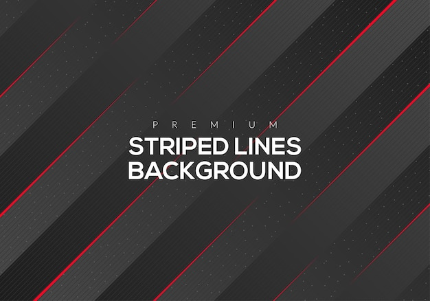 Premium abstract red striped lines background