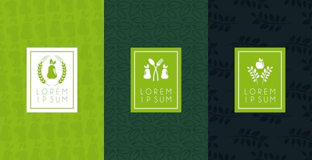 Набор постеров премиум и здоровой пищи