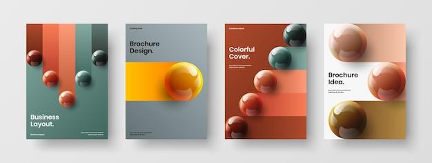 Premium annual report a4 vector design template collection