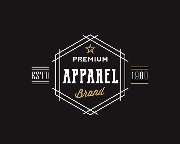 Premium apparel brand retro typography