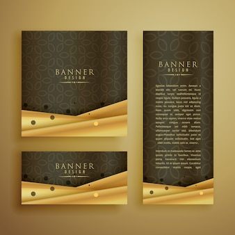 Premium banners set in different sizes