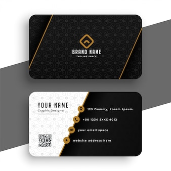 Premium black and gold business card template