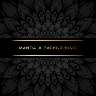 Premium black mandala background