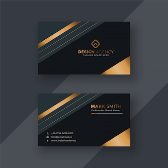 Premium business card design background