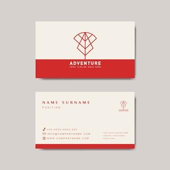 프리미엄 비즈니스 카드 디자인 모형