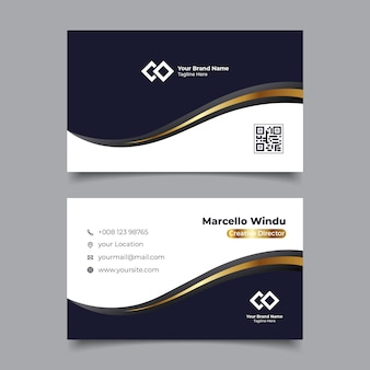 Premium business card name template