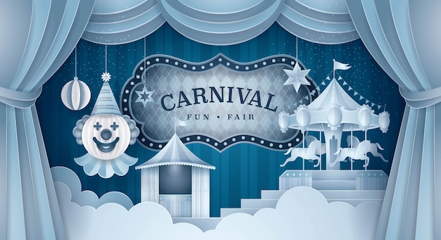 Premium carnival stage background
