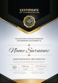 Premium certificate diploma  template