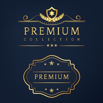 Premium collection badge design vector