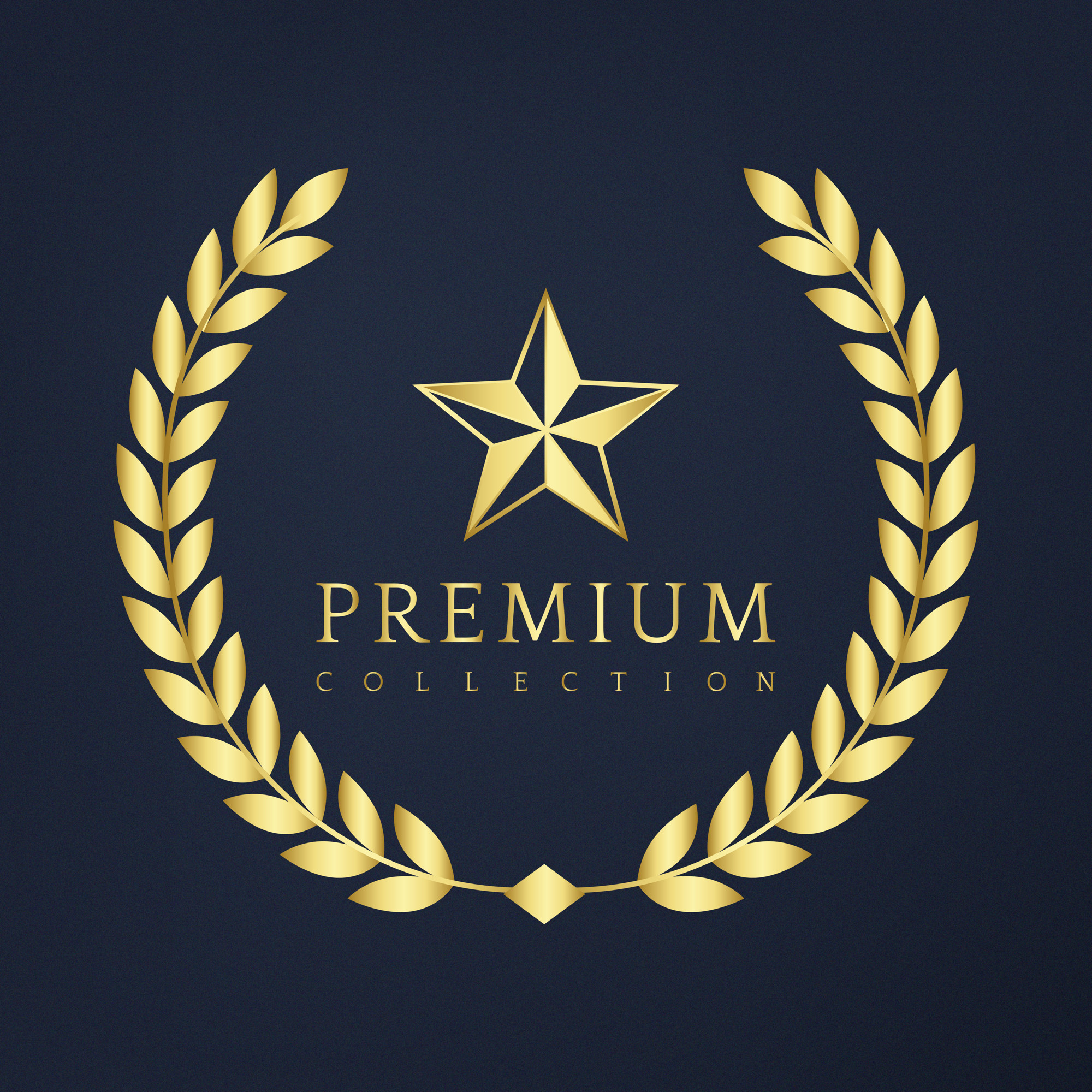 Premium collection badge design