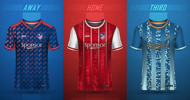Premium collection of soccer jerseys