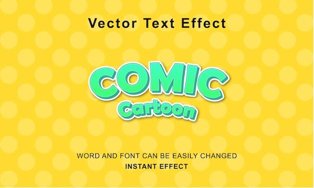 Премиум комикс мультфильм эффект текст дизайн вектор концепция