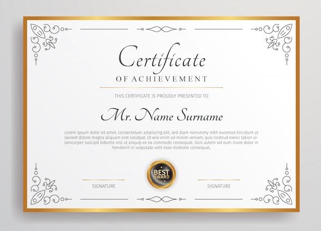 Premium diploma certificate template,
