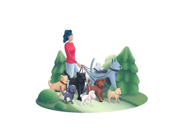 Премиум выгула собак рядом с вами. сделай своего питомца счастливым