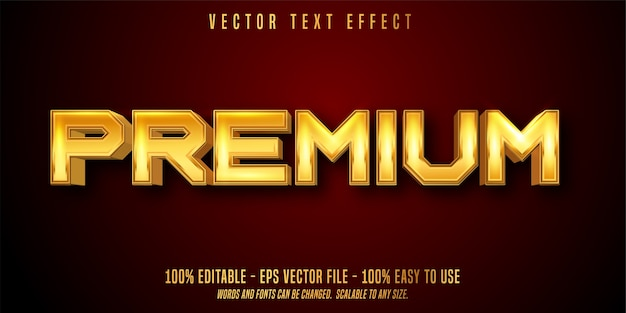 Premium editable text effect isolated on red