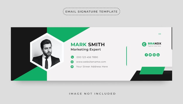 Premium email signature or email footer design template and personal social media cover design