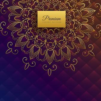 Premium ethnic mandala card design