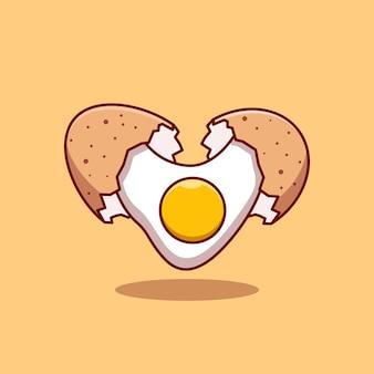 Премиум плавающее куриное яйцо разбитое яйцо векторная иллюстрация дизайн концепции