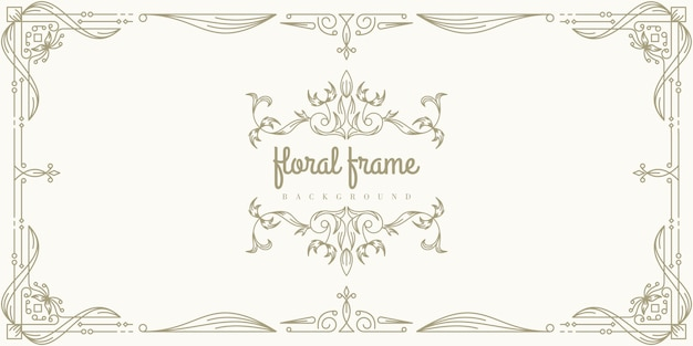 Premium floral frame background template