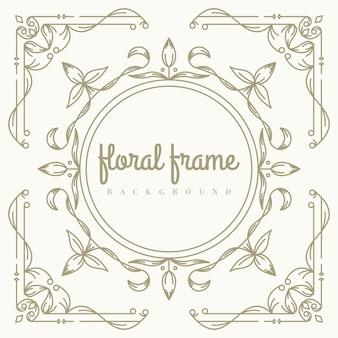 Premium floral frame background