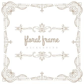 Premium floral frame