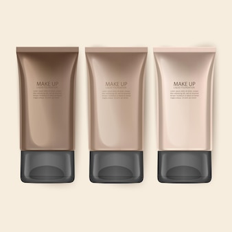 Premium foundation for woman illustration