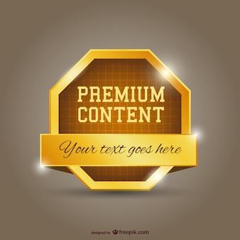 Premium gold content
