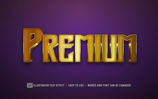 Premium gold - редактируемый стиль текстового эффекта