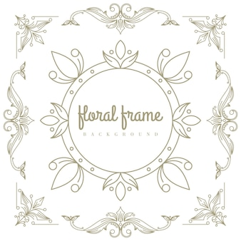 Premium gold logo design with floral frame