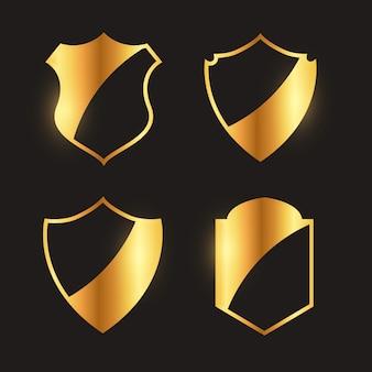 Коллекция эмблем премиальных золотых значков и дизайн этикетки