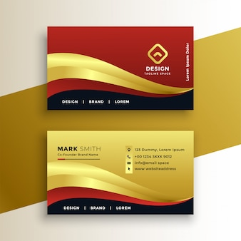 Premium golden business card template