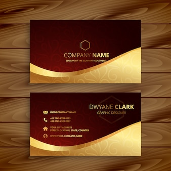Premium golden business card