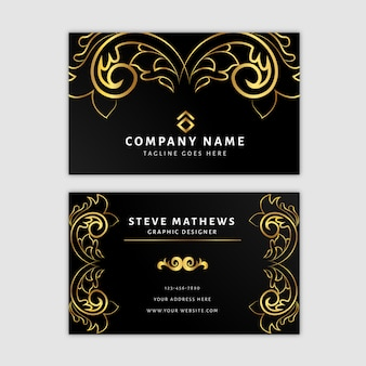 Premium golden design business card template