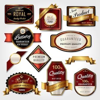 Набор премиальных золотых этикеток для розничной торговли