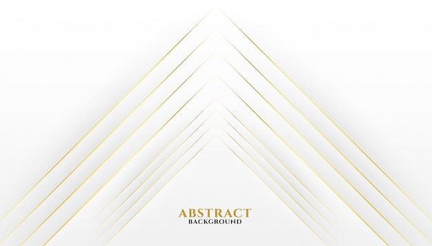 Premium golden lines on white background