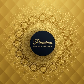 Premium golden ornamental background